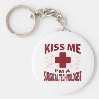 Kiss Me I'm A Surgical Technologist Keychain