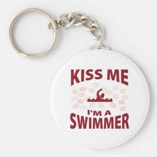 Kiss Me I'm A Swimmer Keychain