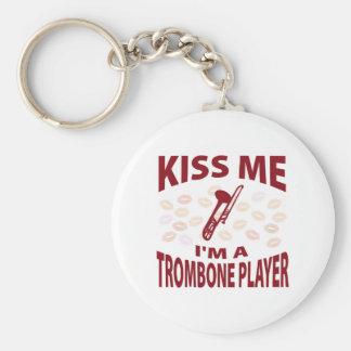 Kiss Me I'm A Trombone Player Keychain