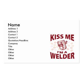Kiss Me I'm A Welder Business Card Templates