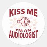 Kiss Me I'm An Audiologist Sticker