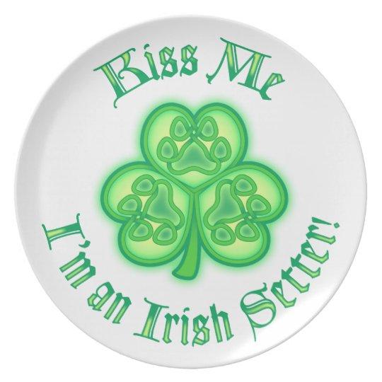 Kiss Me - I'm an Irish Setter Plate