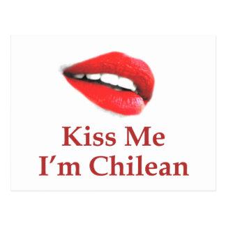 Kiss Me I'm Chilean Postcard