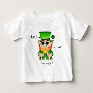 Kiss me I'm cute feat Lil Blarney Baby T-Shirt