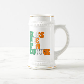 Kiss me I'm drunk St Pats Beer Stein