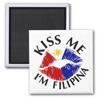 Kiss Me I'm Filipina Fridge Magnets