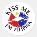 Kiss Me I'm Filipina Stickers