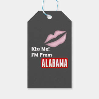 Kiss Me, I'M From Alabama Pack Of Gift Tags