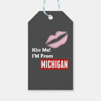 Kiss Me, I'M From Michigan Pack Of Gift Tags