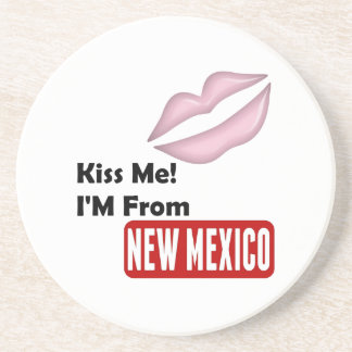 Kiss Me, I'M From New Mexico Beverage Coasters