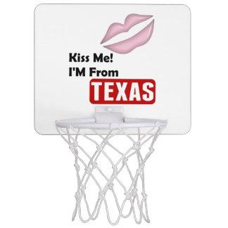 Kiss Me, I'M From Texas Mini Basketball Backboard