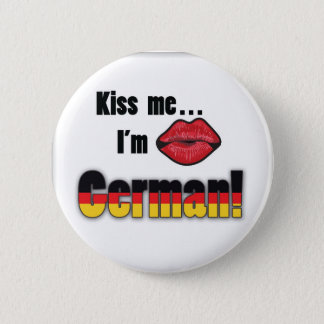 Kiss me I'm German 2 Inch Round Button