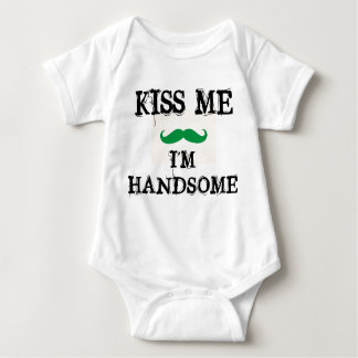 KISS ME I'M HANDSOME BABY OUTFIT ST. PATRICKS DAY BABY BODYSUIT