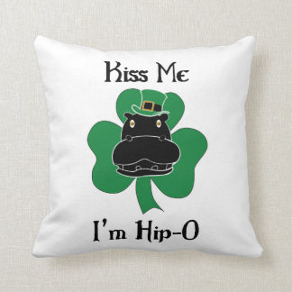 Kiss Me I'm Hip-O Throw Pillow