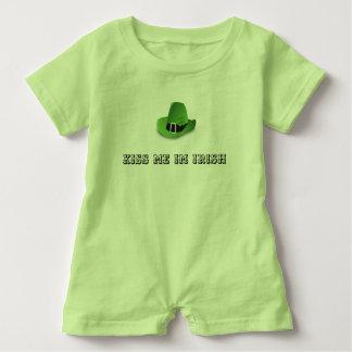 KISS ME IM IRISH BABY SUIT BABY ROMPER