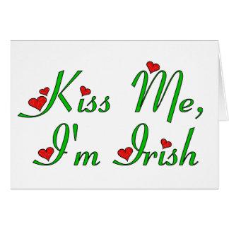 Kiss Me, I'm Irish Card