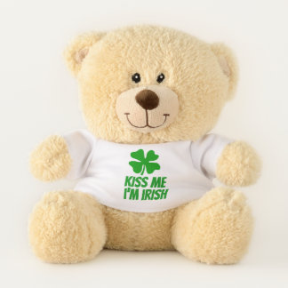 Kiss Me I'm Irish cute St Patrick's Day teddy bear