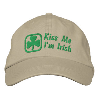 Kiss Me, I'm Irish Embroidered Hat