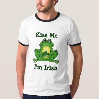 Kiss Me I'm Irish Frog & Shamrock T-shirt