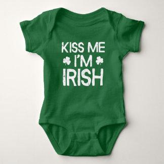 Kiss Me I'm Irish - Funny St. Patricks Day Baby Bodysuit