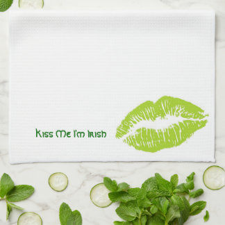 Kiss Me I'm Irish Kitchen Towel