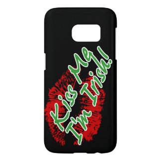 Kiss Me I'm Irish Lips Samsung Galaxy S7 Case