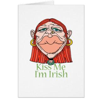 Kiss Me I'm Irish Note Card