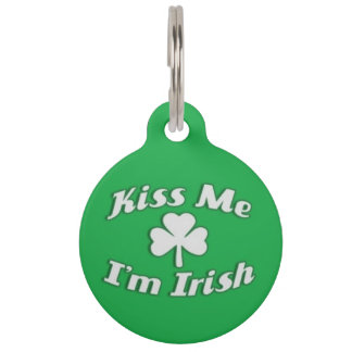 Kiss Me I'm Irish Pet ID Tag