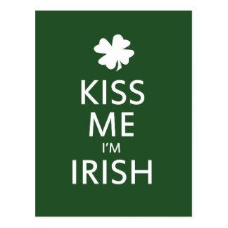 Kiss me Im Irish Postcard