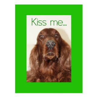 Kiss me....I'm Irish Postcard