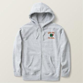 Kiss Me Im Irish Saint Patricks Day Embroidered Hooded Sweatshirts