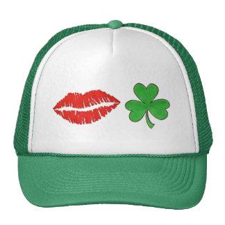 Kiss Me I'm Irish Shamrock St. Patrick's Day Hat