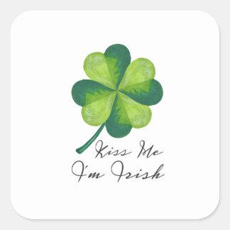 Kiss Me I'm Irish Square Sticker