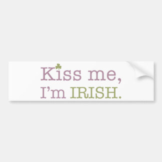 Kiss Me I'm Irish St. Patrick's Day Bumper Sticker