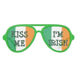 Kiss me i'm Irish St patricks Day party shades