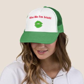 Kiss Me I'm Irish St. Patty's Day 4Erin Trucker Hat