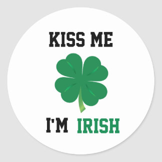 Kiss Me I'm Irish Stickers