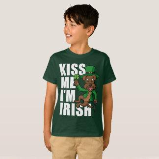 Kiss Me I'm Irish Terrier T-Shirt