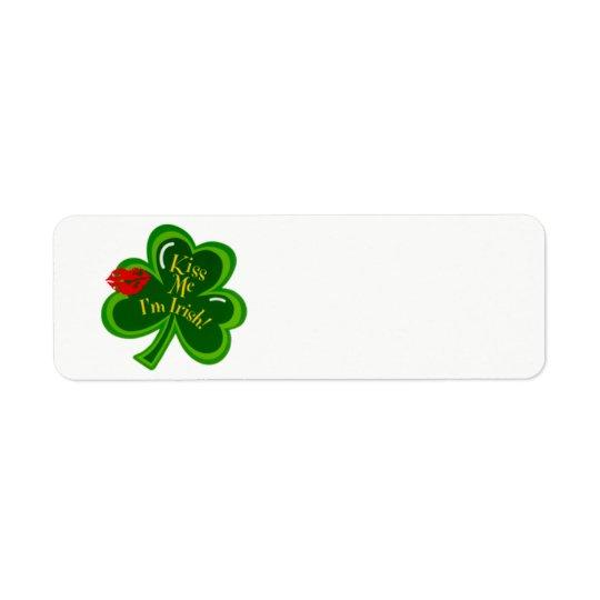 Kiss Me I'm Irish text