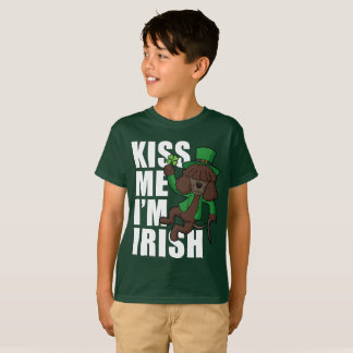 Kiss Me I'm Irish Water Spainel T-Shirt