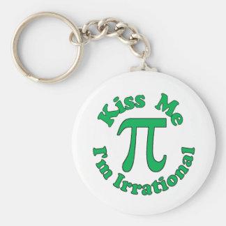 Kiss me, I'm Irrational Basic Round Button Keychain