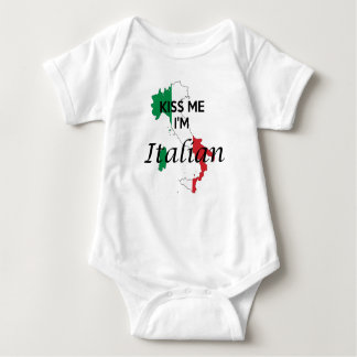 Kiss me, I'm Italian Baby Bodysuit