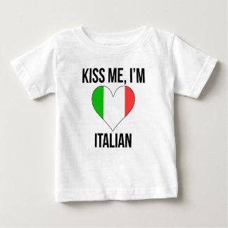 Kiss Me I'm Italian Baby T-Shirt