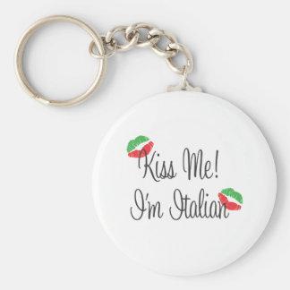 Kiss Me! I'm Italian Keychain
