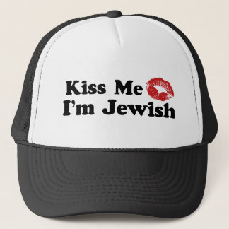 Kiss Me I'm Jewish Trucker Hat