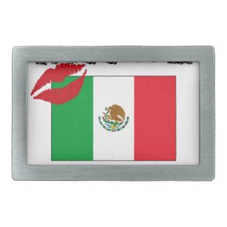 kiss me i'm mexican belt buckles