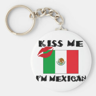 kiss me i'm mexican keychain