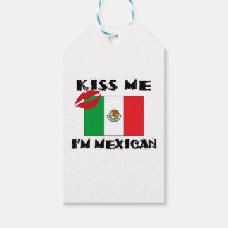 kiss me i'm mexican pack of gift tags