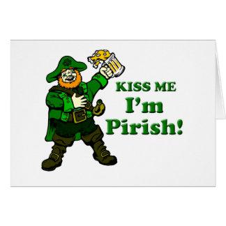 Kiss me, I'm Pirish Card