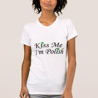 Kiss Me Im Polish St Patricks Day Clovers Shirts